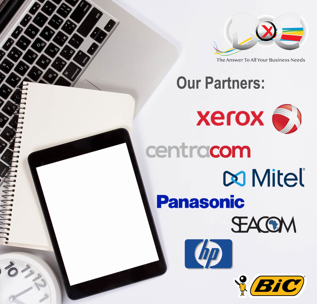Xerox, Document Excellence, DocX, Partners, Consumables, Telecommunications, Service, Office Automation